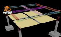 三维房产动画模拟基础建筑过程