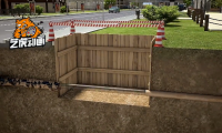 市政道路管线-房产施工动画