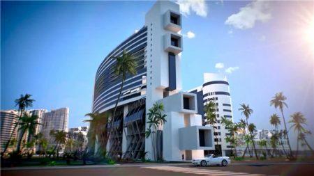 建筑漫游动画视频